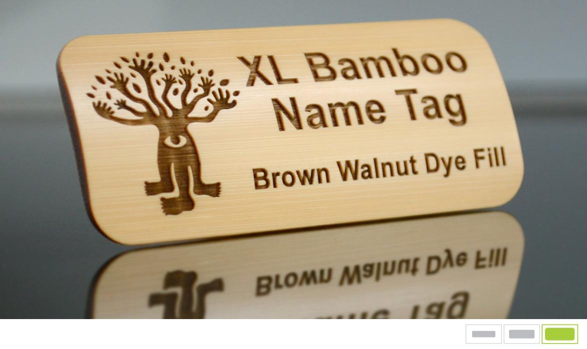 bamboo name tag