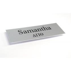 Aluminum Name Badges, 3x1