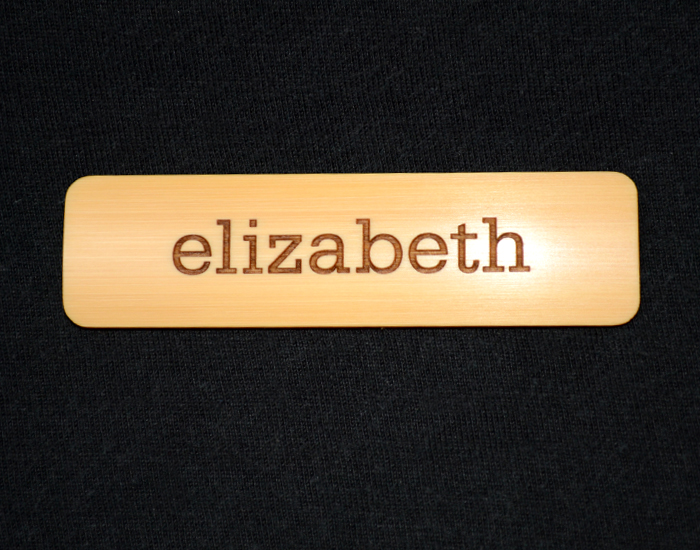 first name only eco friendly name tag