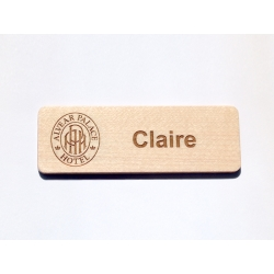 Maple engraved name tag