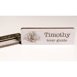 Walnut name tag with magnet