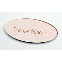 Maple oval name tag