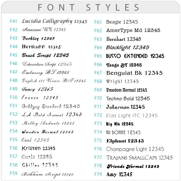 Font styles part 2
